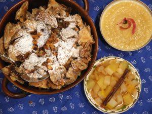 Kaiserschmarrn mit Apfel-Birnen-Kompott