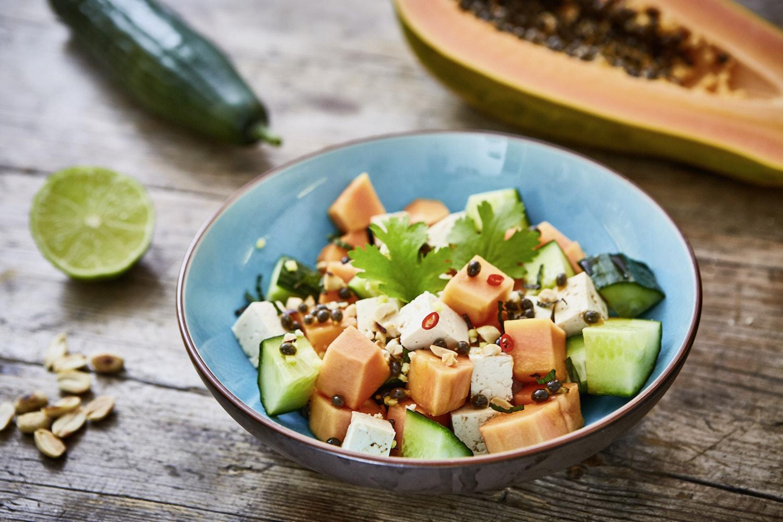 veganer vietnamesischer papaya salat von paradiesfutter. Black Bedroom Furniture Sets. Home Design Ideas